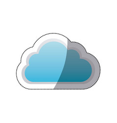 sticker cloud tridimensional in cumulus shape vector image