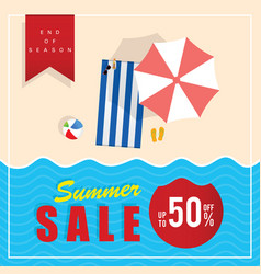 Summer sale end of season vector