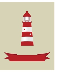 the sea and a light house vector image