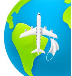 Travel after quarantine concept modern aircraft vector