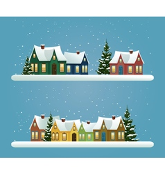 Two Christmas banners vector image