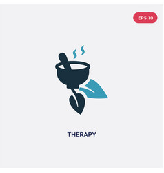 two color therapy icon from nature concept vector image