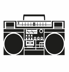 Vintage Radio Cassette Player vector image