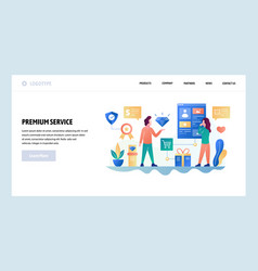 Web site design template premium quality vector