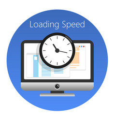 website loading speed or worked time icon vector image