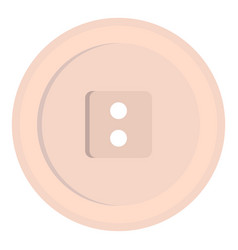 White sewing button icon isolated vector