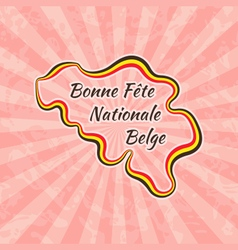 Happy Belgian National Day vector image