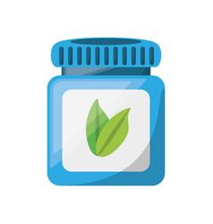 jar pills heartly vector image vector image