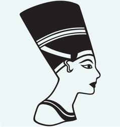 Silhouette Nefertiti vector image vector image