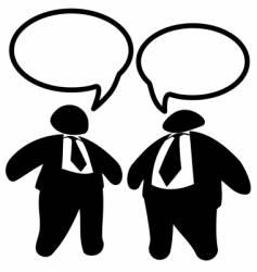 two big fat business men vector image vector image