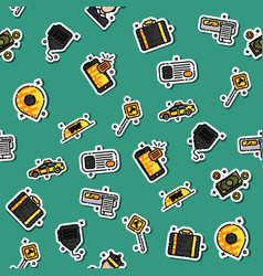 Colored taxi pattern vector