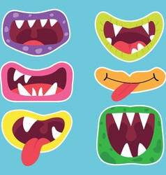 Cute Monster Mouth vector image