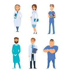 different medical personal male and female vector image vector image