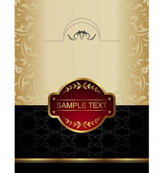 gold wine label vector image