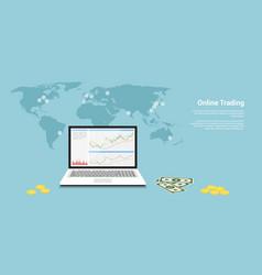 online trading banner vector image