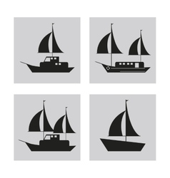 sailboat ship sea design vector image vector image
