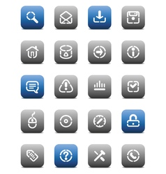 Stencil matt buttons for internet vector image