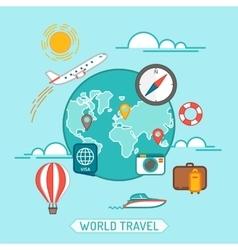 Travel banner Flat vector image