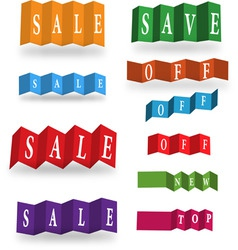 abstract sale cards vector image