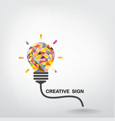Creative light bulb Idea vector image