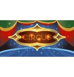 Shining circus poster vector image vector image