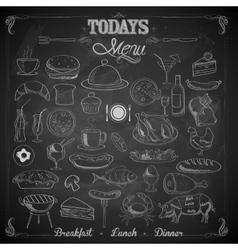 Menu Chalk board vector image