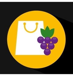 package buying fruit grape fresh icon vector image