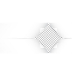 realistic paper corners isolated on transparent vector image
