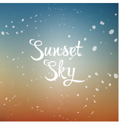 sunset sky vector image