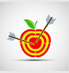 target apple icon image vector image vector image