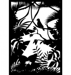 tropical forest vector image vector image