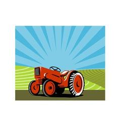 Vintage Tractor Retro vector image vector image