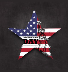 4th july independence day usa grunge star vector image