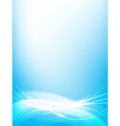Abstract background blue wave curve and lighting vector image