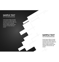 Abstract of black and white background with copy vector