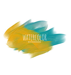 Abstract yellow and blue watercolor texture vector