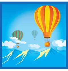 Air Balloons over the mountains vector