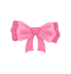 Beautiful pink hair bow accessory for girl vector