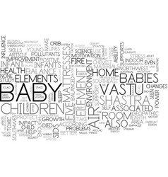 better health and happiness for your baby text vector image