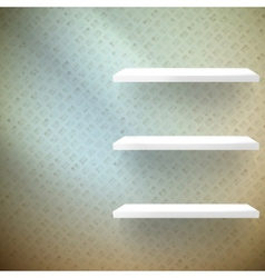 Big Sale 3d isolated Empty shelf for exhibit vector image