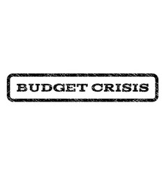 Budget crisis watermark stamp vector
