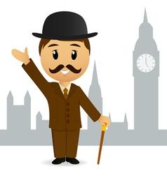 Cartoon english gentleman vector