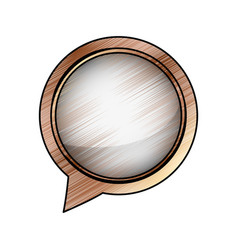 Chat bubble speakbox vector
