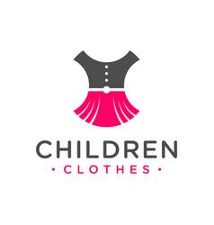 Children clothing modern logo vector