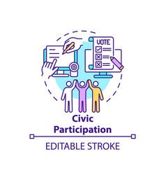 Civic participation concept icon vector