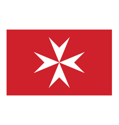 Civil flag of malta in official rate and colors vector