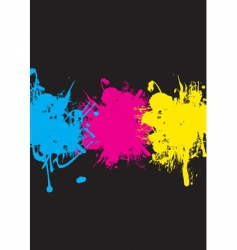 CMYK splash vector image