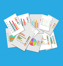 colorful collection of various business charts vector image