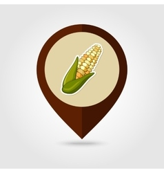 Corn mapping pin icon Harvest Thanksgiving vector image