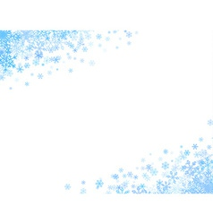 Corners with small snowflakes vector